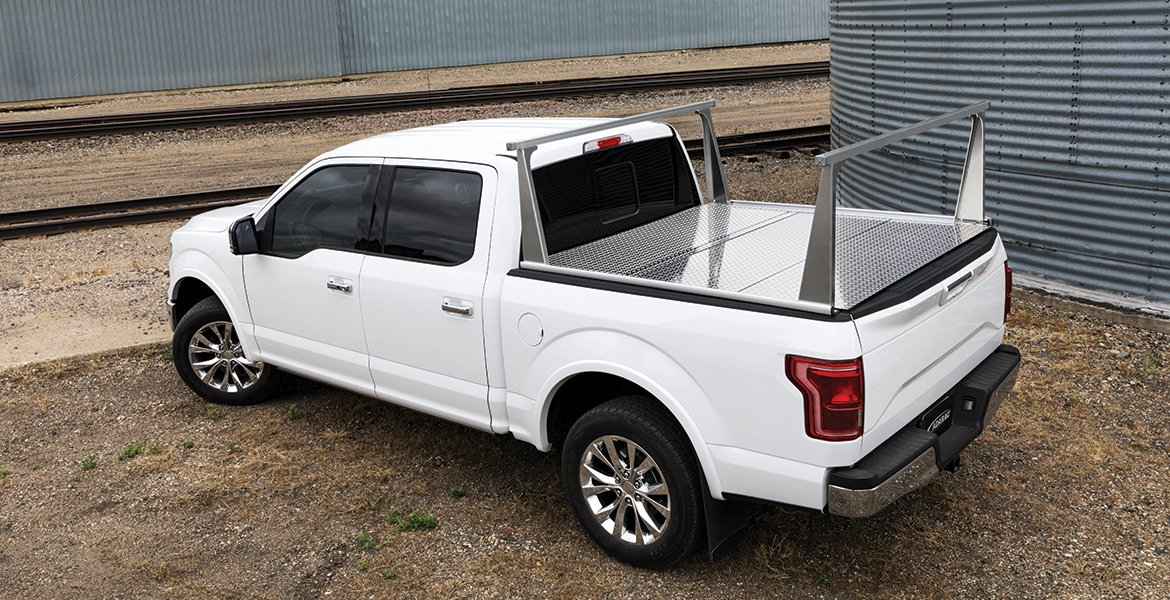 Pickup Rack and Hard Folding Tonneau Cover