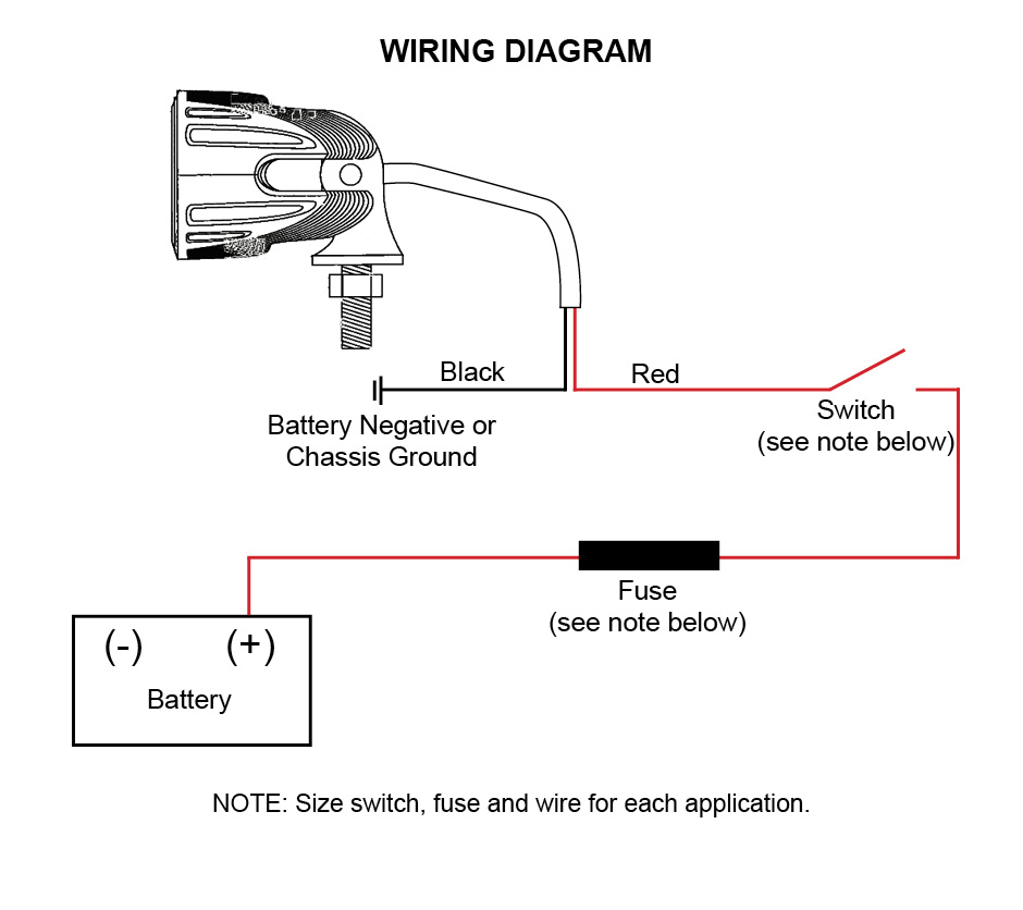aci off road led lights instructions and wiring diagram Single LED Wiring