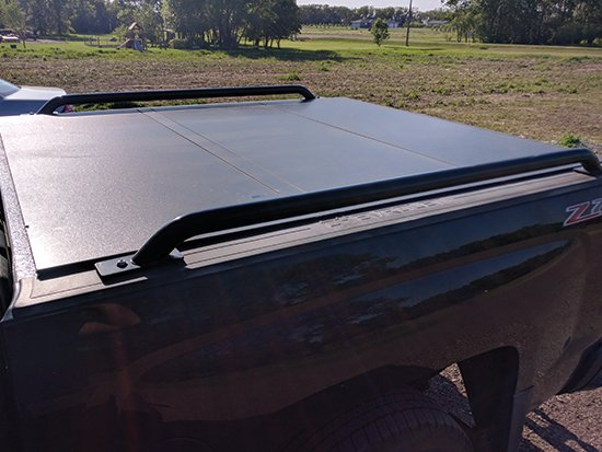 Lomax Hard Tri Fold Tonneau Cover Folding Truck Bed Cover