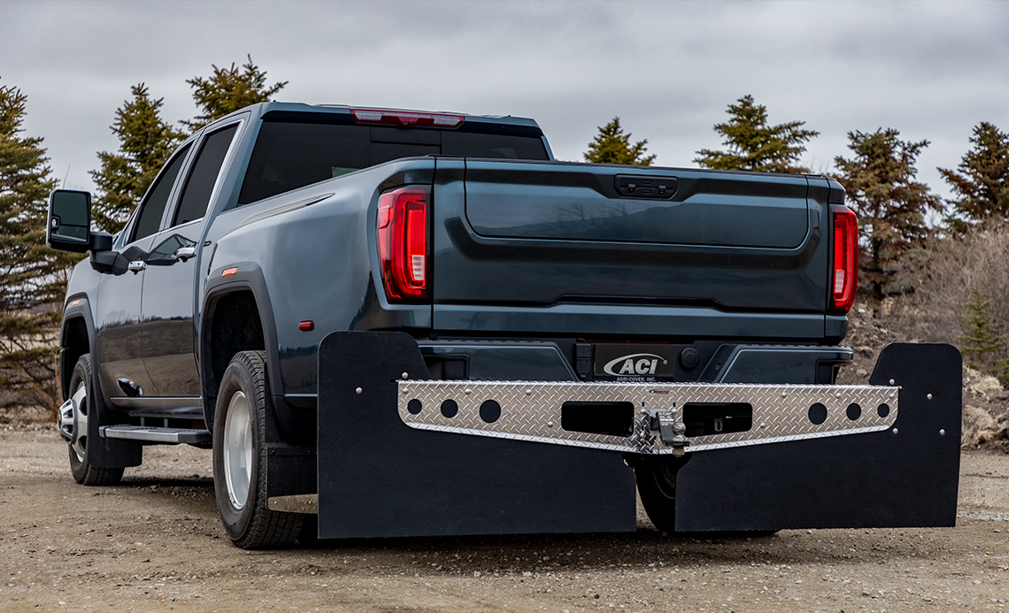 ROCKSTAR Hitch Mounted Mud Flaps | Best Fit Truck Mud Flaps