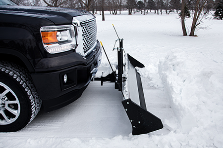 Backing Up with Snow Plow