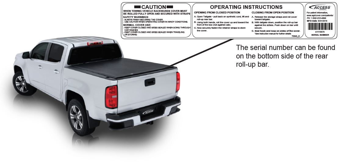 Access Roll-Up Tonneau Cover Warranty Location